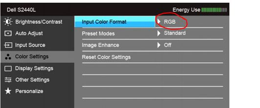 how to change the rgb manually on a monitor